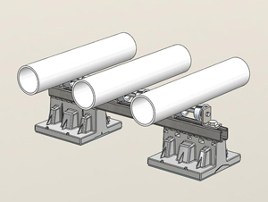 "063 - 2 Blox Bridge with Multiple 4""-6"" Pipe Rollers"