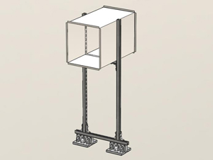 084 - 2 Blox Ductwork Stand